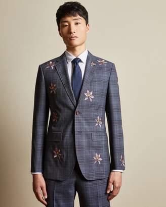 Ted Baker Global Embroidered Wool Jacket