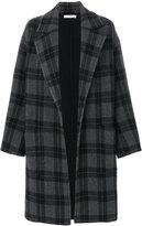 Vince tartan button up coat