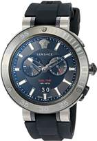 Versace Men's 'V-EXTREME PRO' Swiss Quartz Stainless Steel and Silicone Casual Watch, Color: (Model: VCN020017)