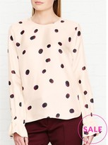 Paul Smith Large Spot Cuff Detail Blouse
