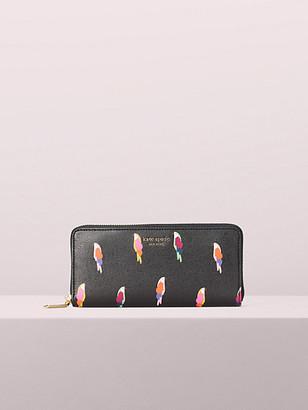 Kate Spade Sylvia Flock Party Slim Continental Wallet
