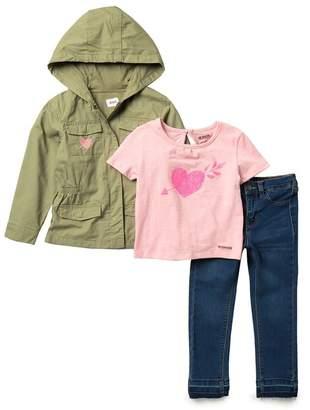 Hudson Jeans Lightweight Twill Jacket 3-Piece Set (Toddler Girls)