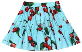 Dolce & Gabbana Exclusive to Mytheresa a cherry printed cotton skirt