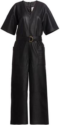 REMAIN Birger Christensen Dalmine Leather Jumpsuit