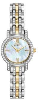 Citizen Ladies Silhouette Two-Tone Crystal Watch