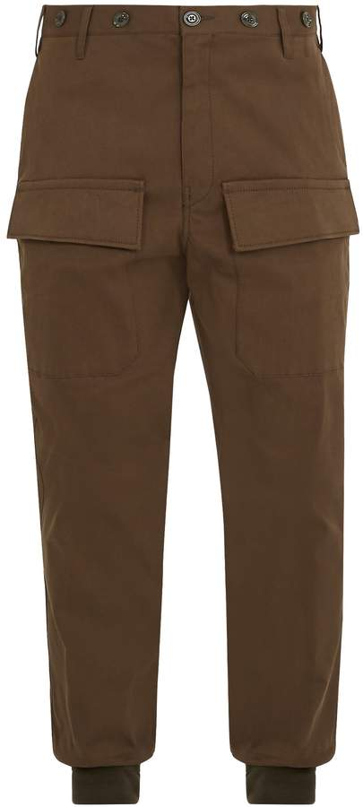 Moncler Relaxed-leg cotton cargo trousers