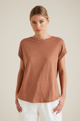 Seed Heritage Rolled Cuff Linen Tee