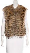Adrienne Landau Tiered Fur Vest