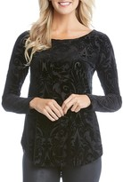 Karen Kane Velvet Burnout Top