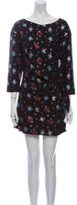 Thumbnail for your product : Lake Studio Floral Print Mini Dress w/ Tags Black