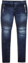 Balmain Indigo Skinny Biker Jeans