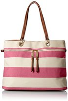 Tommy Hilfiger Camille Rugby Tote Top Handle Bag