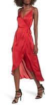 Somedays Lovin Women's Evening Sun Satin Wrap Dress