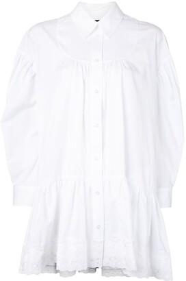 Simone Rocha Lace-Embellished Cotton Shirt