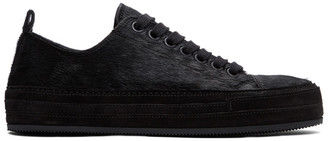 Ann Demeulemeester Black Cow Hair Chiro Sneakers