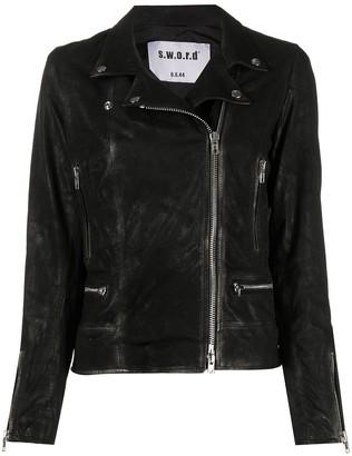 S.W.O.R.D 6.6.44 Front-Zip Moto Jacket
