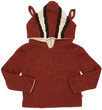 Oeuf Reversible Squirrel Alpaca Knit Sweater