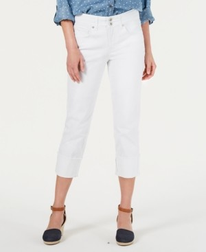 Style&Co. Style & Co High Cuffed Capri Jeans, Created for Macy's