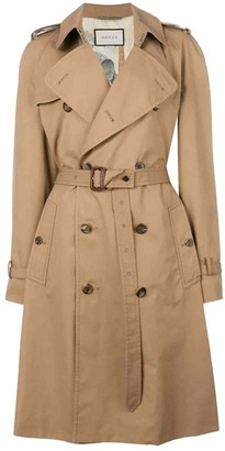 Gucci Camel Cotton Coat for Women
