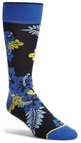 Bugatchi Men's 'Large Flower' Socks
