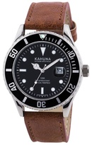 Kahuna Gents Tan Strap Silver Case Watch Kus-0105g