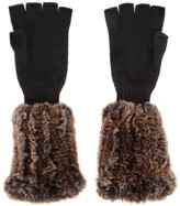 Hockley Domina Fur And Cashmere Fingerless Gloves