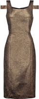 Michael Kors Cutout metallic jacquard dress