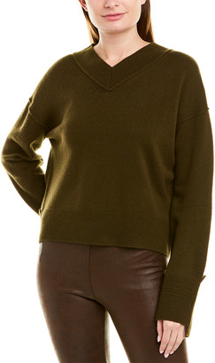 Helmut Lang High V-Neck Cashmere Sweater