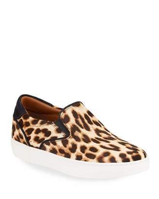 Tory Burch Slip-On Leopard Calf Hair Sneakers