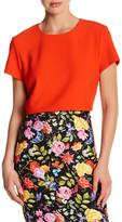 Nicole Miller Short Sleeve Crop Shirt
