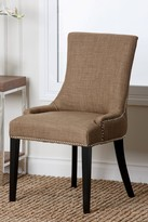 Gold Kandra Linen Nailhead Dining Chair