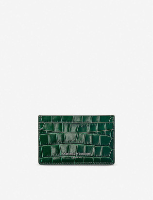 Aspinal of London Crocodile-embossed leather credit card holder