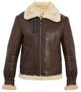 Schott Military B-3 shearling-lined leather jacket