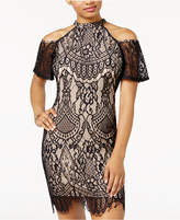 Material Girl Juniors' Lace Cold-Shoulder Dress, Created for Macy's