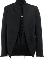 Cedric Jacquemyn - high neck layered blazer - men - Cotton/Linen/Flax/Ramie/Polyester - 52