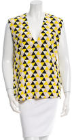 Victoria Beckham Printed V-Neck Top w/ Tags