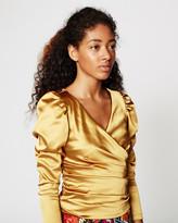 Nicole Miller Logan Puff Sleeve Blouse