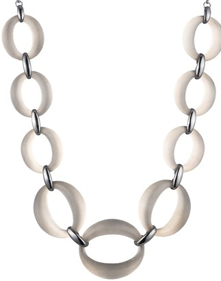Alexis Bittar Ruthernium-Plated Lucite Link Statement Necklace