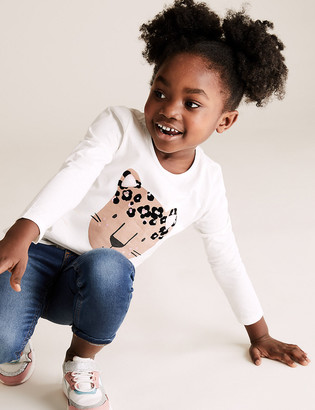 Marks and Spencer 3pk Pure Cotton Leopard Print Tops