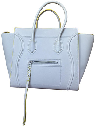 Celine Luggage Phantom Beige Leather Handbags