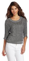 Kenneth Cole Women's Cropped Open Stitch Sweater