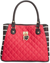 Betsey Johnson Swag Heart Triple Compartment Satchel, Only At Macy's