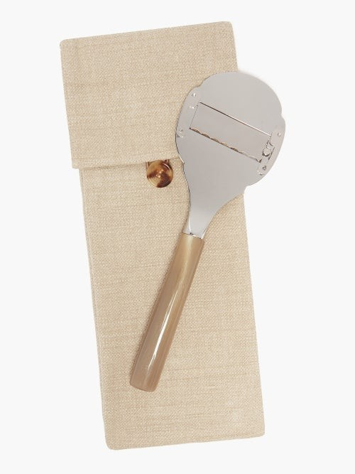 Thumbnail for your product : Brunello Cucinelli Horn-handle Stainless-steel Truffle Slicer - Brown