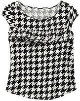 Gap Houndstooth ruffle shirt