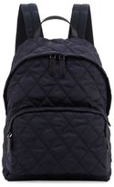 Prada Tessuto Quilted Backpack, Navy
