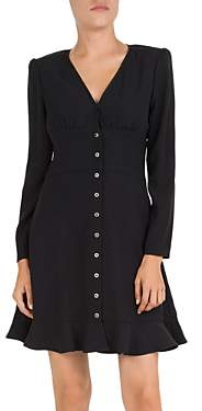 The Kooples Simply Snap-Front Crepe Dress