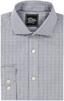 Jachs Long Sleeve Trim Fit Button Down Dress Shirt