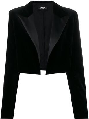 Karl Lagerfeld Paris x Carine velvet jacket
