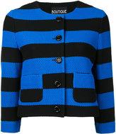 Moschino stripe cropped jacket - women - Cotton/Nylon - 42