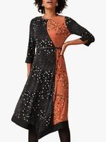 Phase Eight Christa Colour Block Dress, Black/Spice